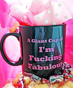Im Fucking Fabulous Gift Mug with Gourmet Candy