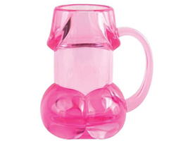 Drink Up Pink Pecker Mug Adult Theme Gift