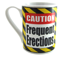 Caution Frequent Erections Coffe Mug Adult Theme Gift